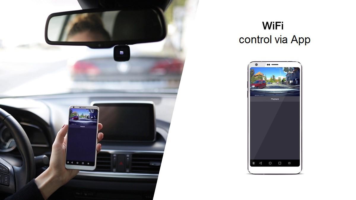 Video footage is transferable via Wi-Fi