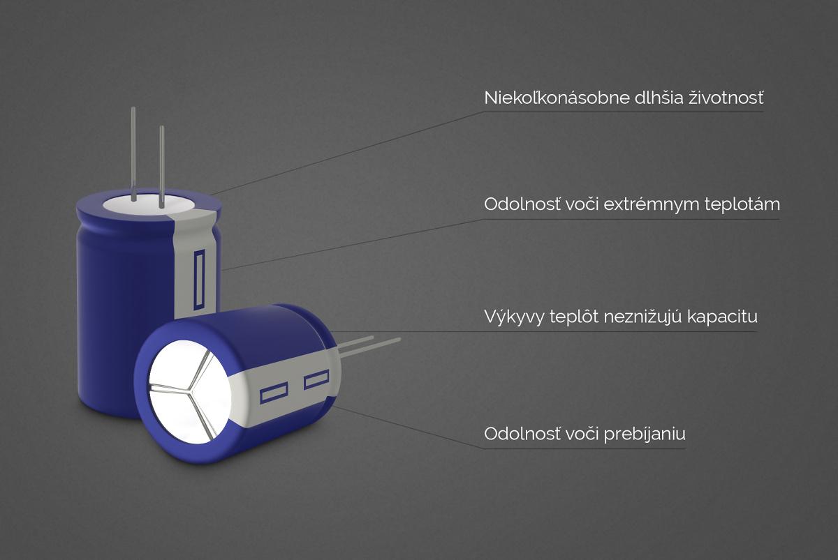 Kondenzátor miesto batérie